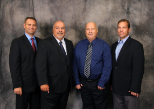 C.O. Brown President Mark Hayford, Dave and Bob Breitner, and North Risk Partners current COO and incoming CEO Chris Meidt.